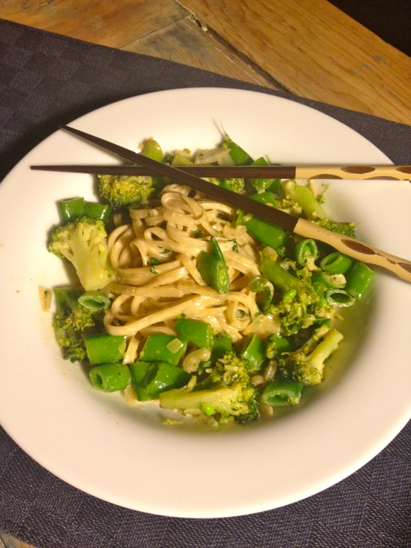 Maple-Tahini Noodles with Vegetables by somethingwewhippedup.com