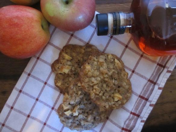 Bourbon-Apple Oatmeal Cookies by somethingwewhippedup.com
