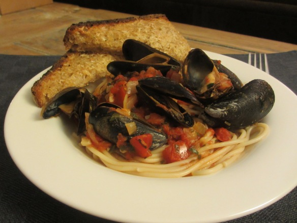 Mussels Marinara With Beer by somethingwewhippedup.com