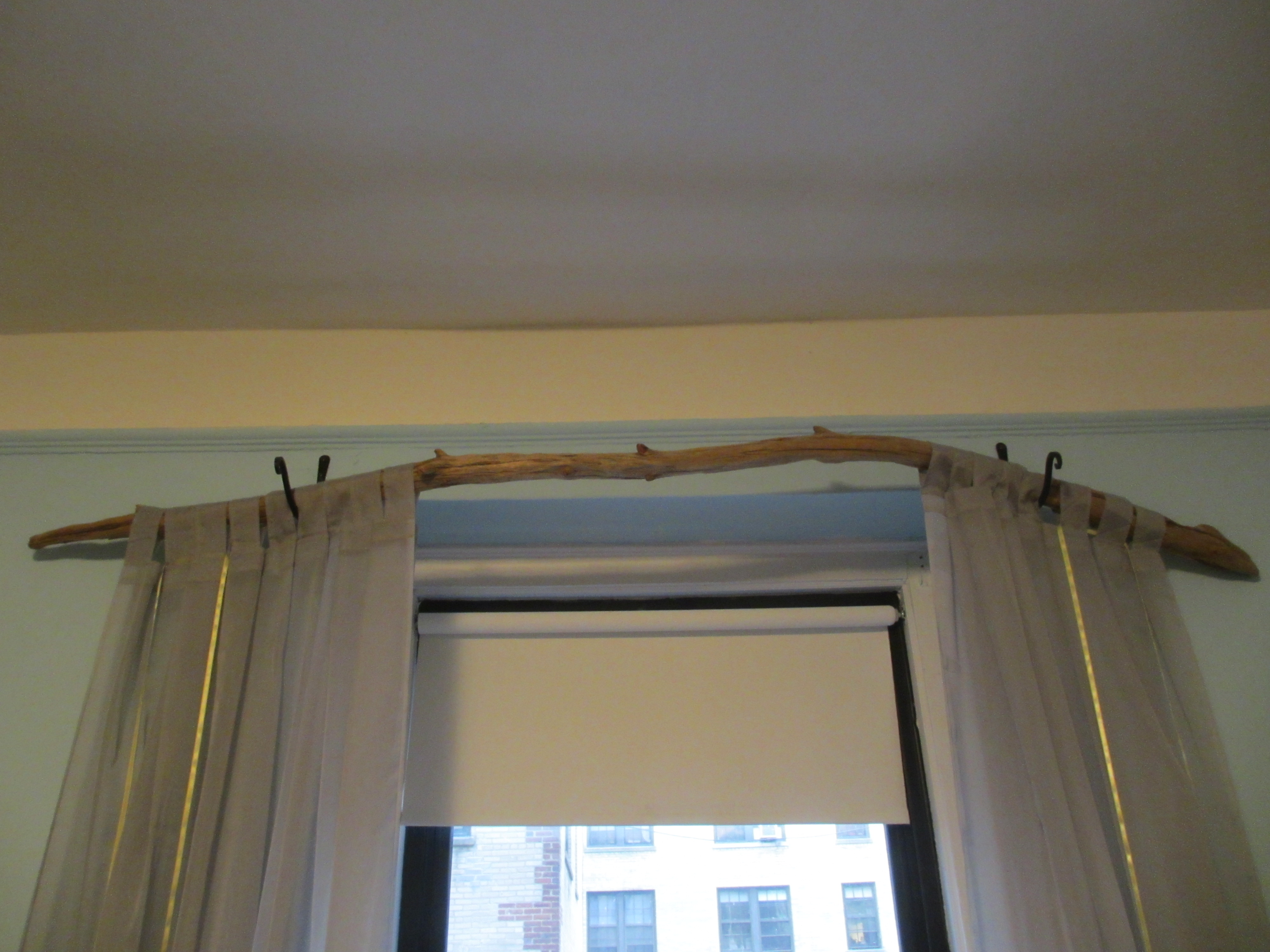 unique curtain rod something we whipped up