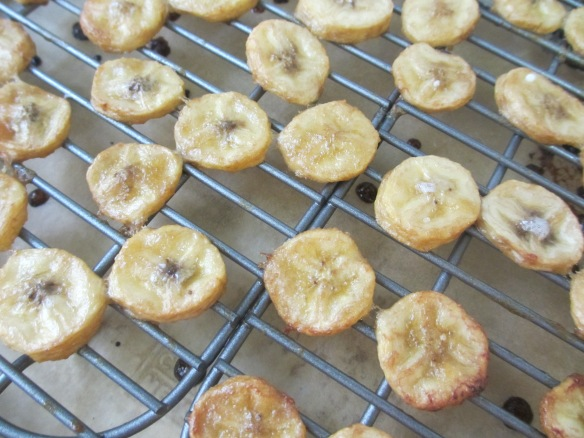 Baking the Baked Banana Chips by somethingwewhippedup.com