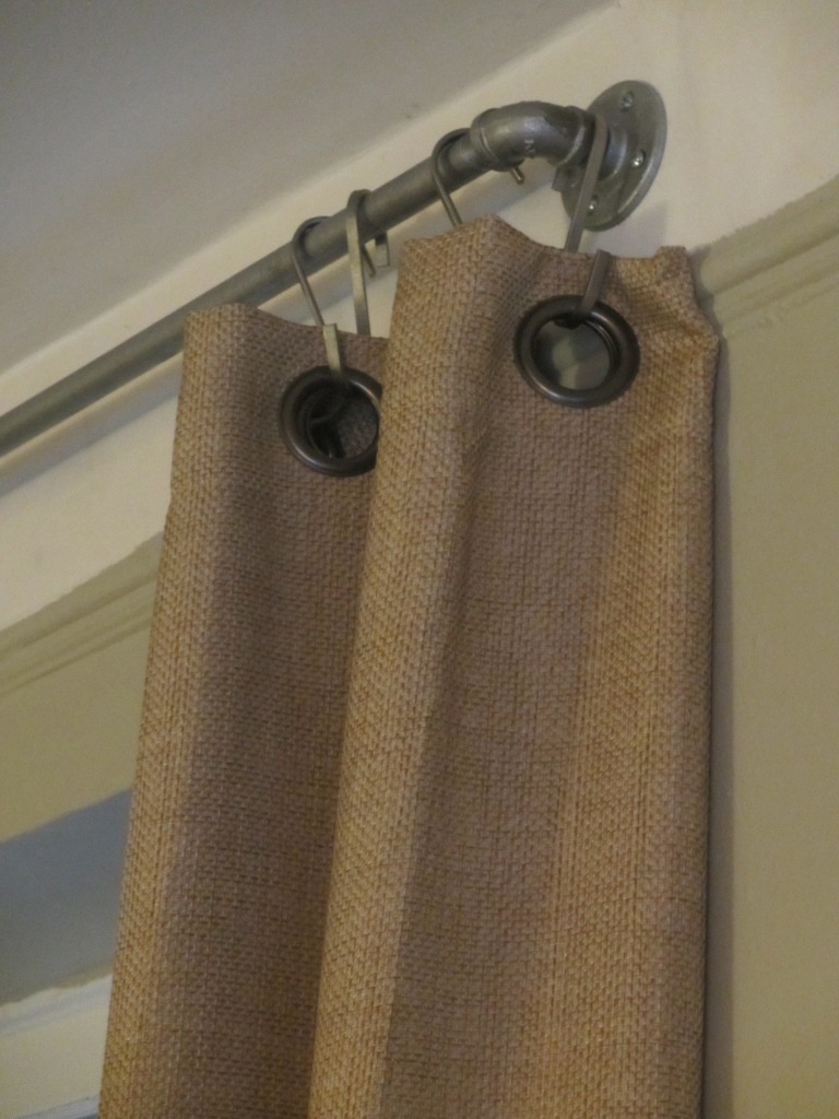 DIY Industrial Pipe Curtain Rods by somethingwewhippedup.com