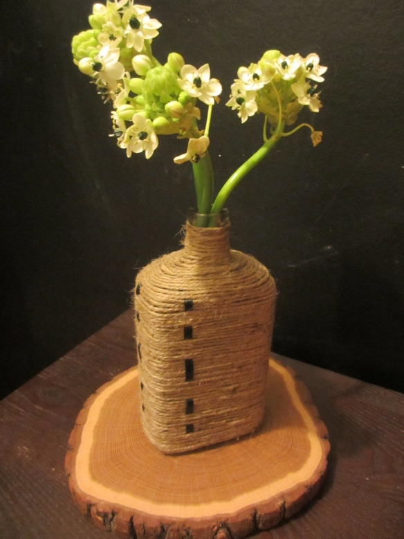 Jute-Wrapped Vase by somethingwewhippedup.com