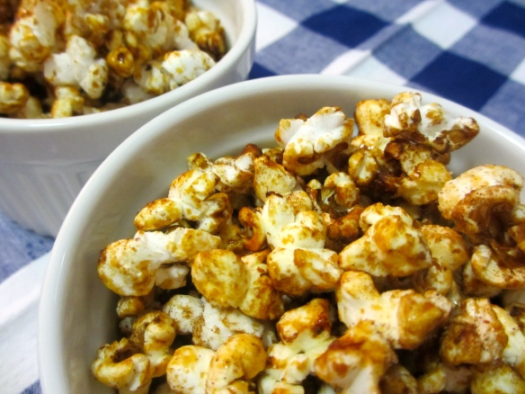 Orange-Maple Popcorn by somethingwewhippedup.com