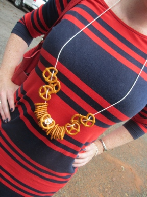An edible pretzel necklace by somethingwewhippedip.com