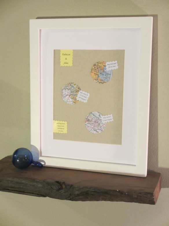 Framing A Love Story - A wedding shower gift by somethingwewhippedup.com
